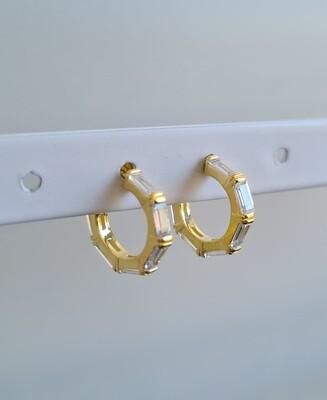 6 staafjes oorbellen goud/925 sterling zilver