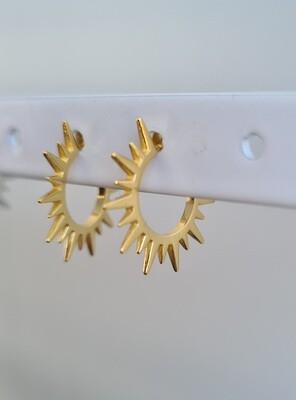 Stekeltjes oorringetjes 925 sterling zilver