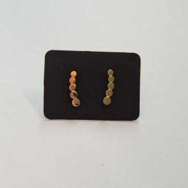 Dots staafje oorknopjes goud/925 sterling zilver