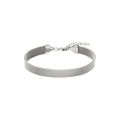 Brede armband zilver Stainless steel