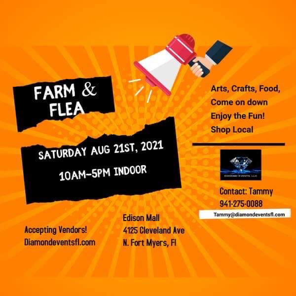 Edison Aug 21, Saturday farm And Flea