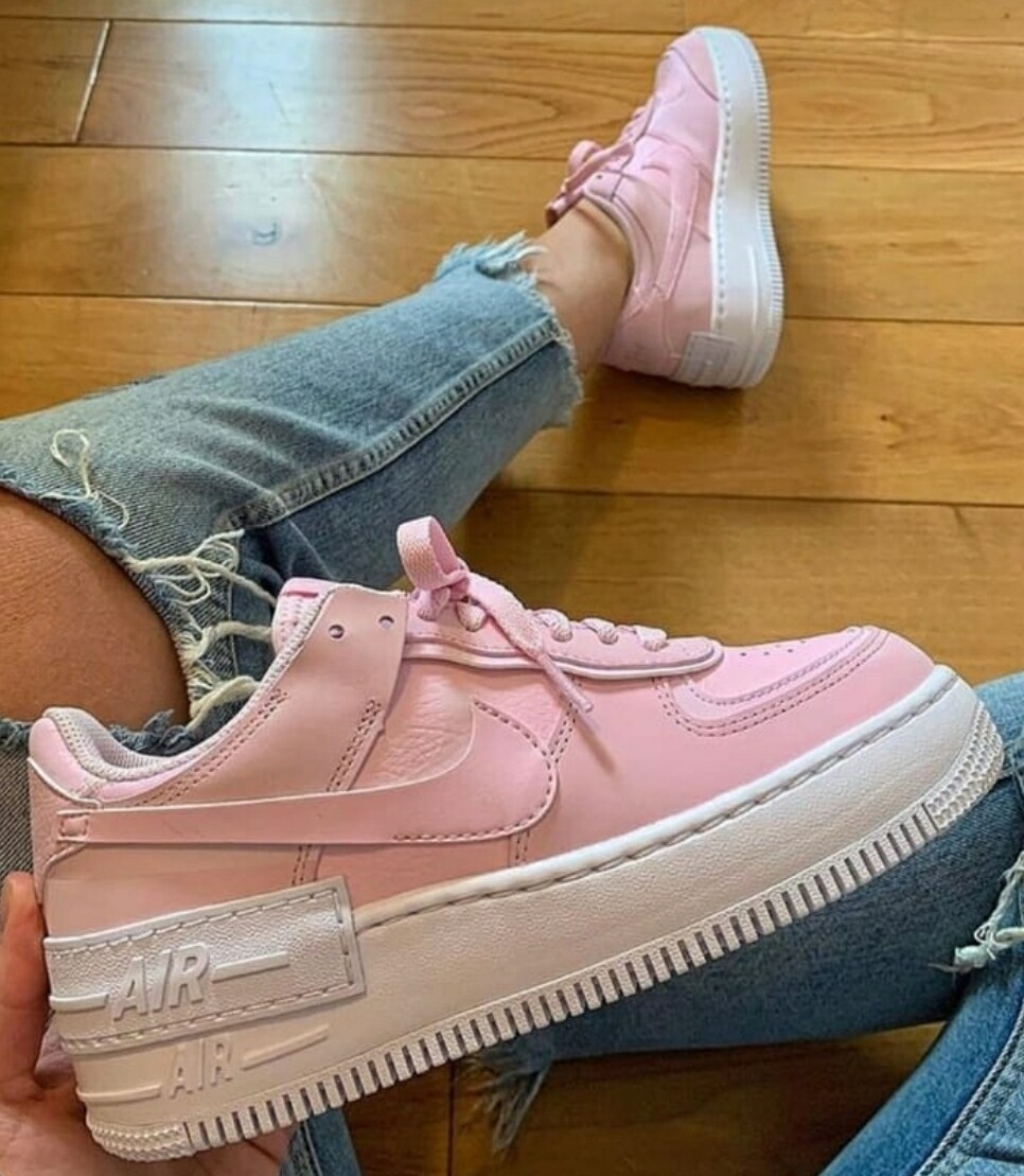 nike air force 1 donna rosa pesca