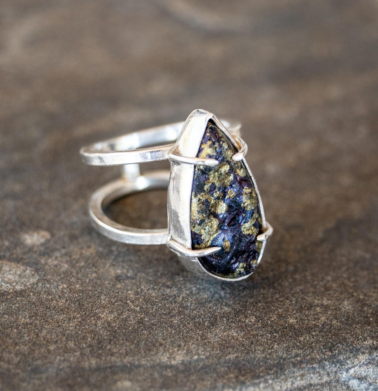 Pyrite in Quartz Ring