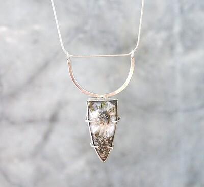 Pyrite in Quartz Necklace