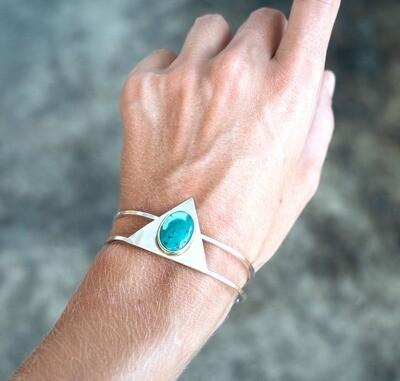 Turquoise triangle cuff