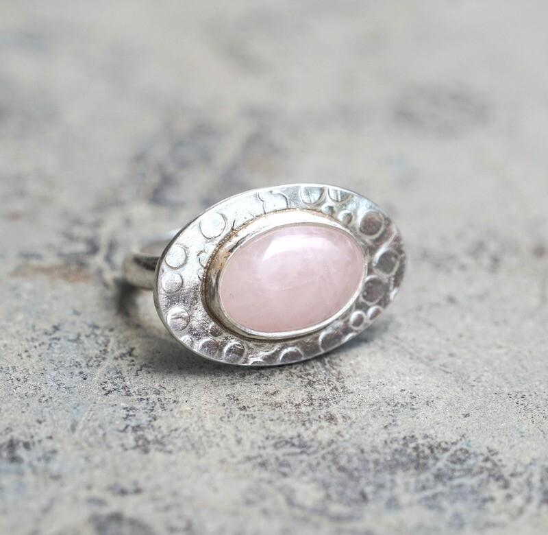 Rosequartz Bubble Ring