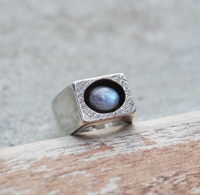 Moonstone Box Ring