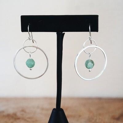 Green quartz hoops