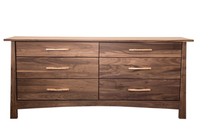 Reflections Walnut 6 Drawer Dresser