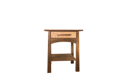 Reflections 1 Drawer Walnut-Figured Maple Nightstand