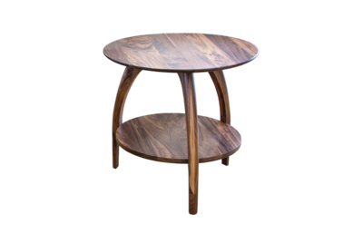 Tibro Limited Edition Walnut Round End Table