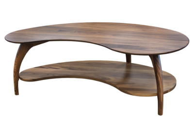 Tibro Limited Edition Walnut Kidney-Shaped Coffee Table