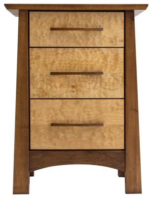 Reflections Limited Edition Maple 3 Drawer Nightstand