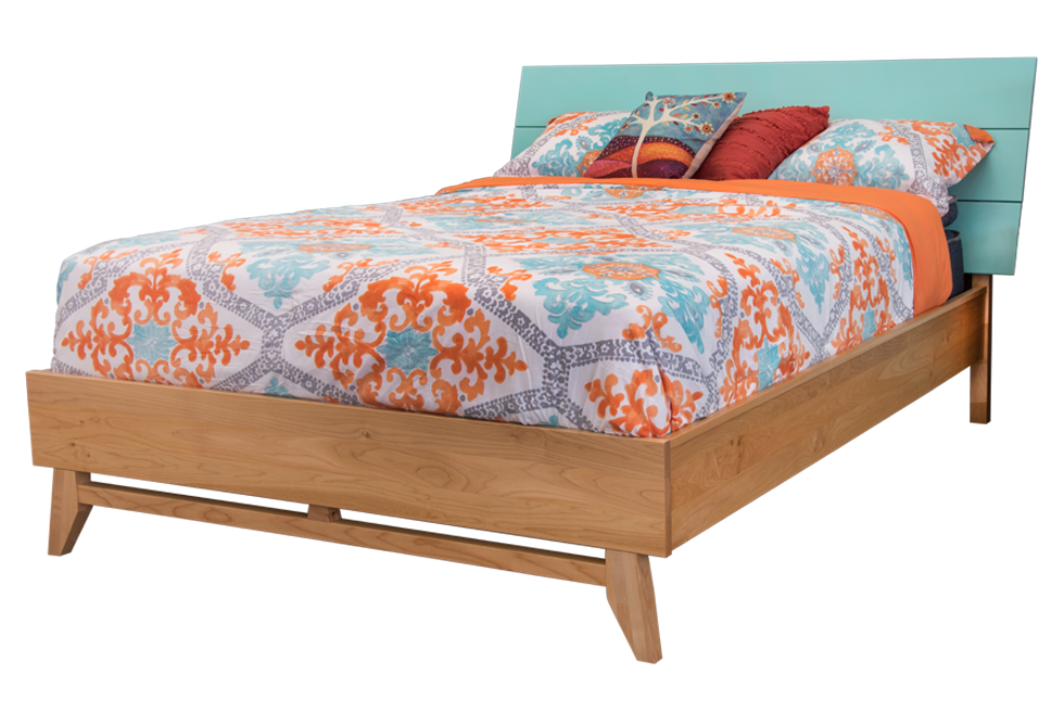 Montano Limited Edition Teal/Natural Maple Bed
