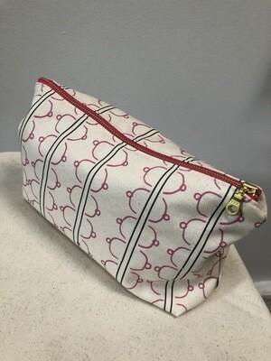"""Tata"" Stripe Makeup Bag"