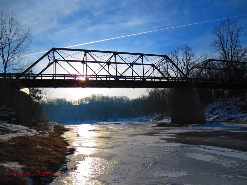 January Sun on Motor Mill Bridge - 2013
