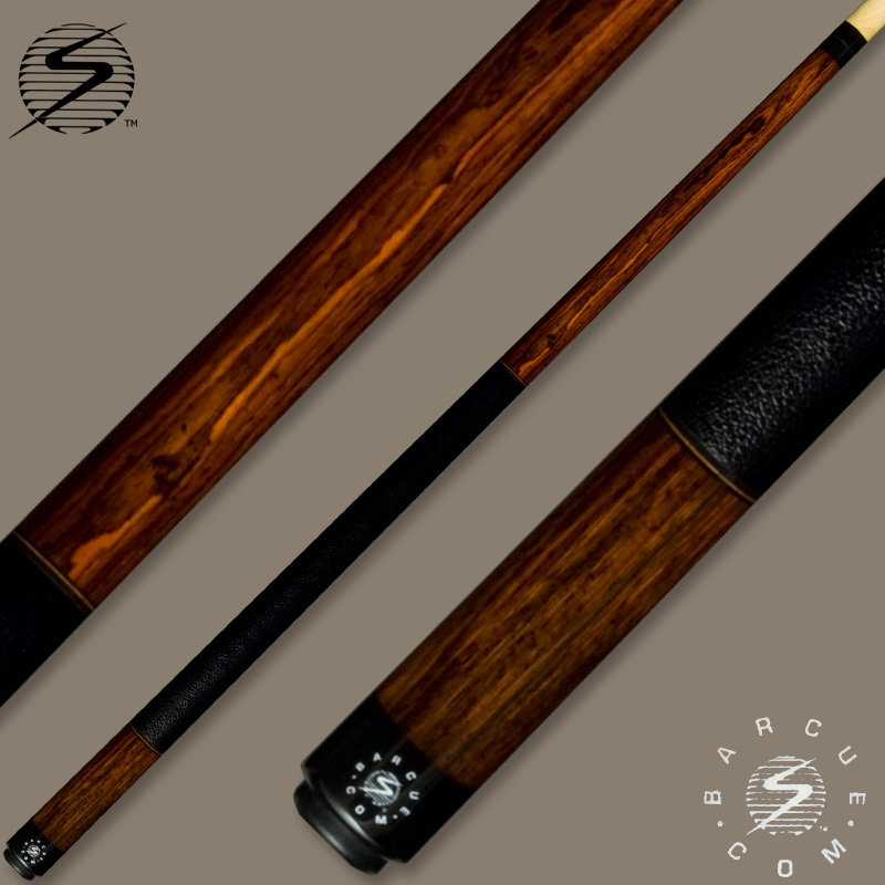 Samsara Bar Cue Series Cocobolo / Black Leather Wrap
