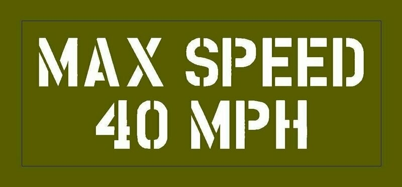 Max Speed stencil Jeep Dodge GMC stencil for re-enactors ww2 army prop