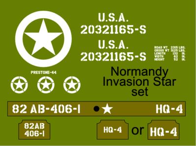 Normandy Invasion Star Jeep stencil set ww2 army Jeep Willys Ford Hotchkiss