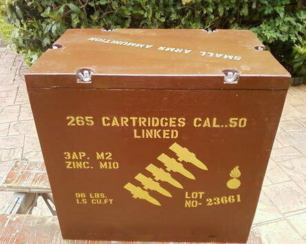 50 Cal linked box stencil set for re-enactors ww2 army Jeep prop