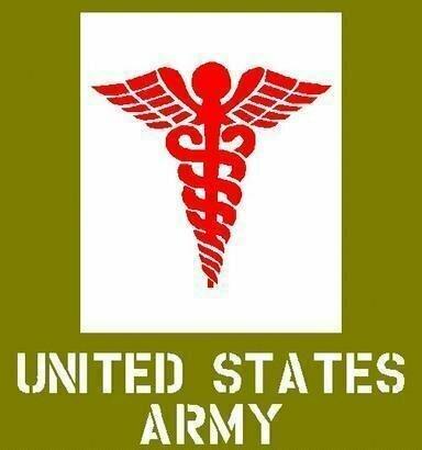 Dodge medical Caduceus Stencil ww2 army