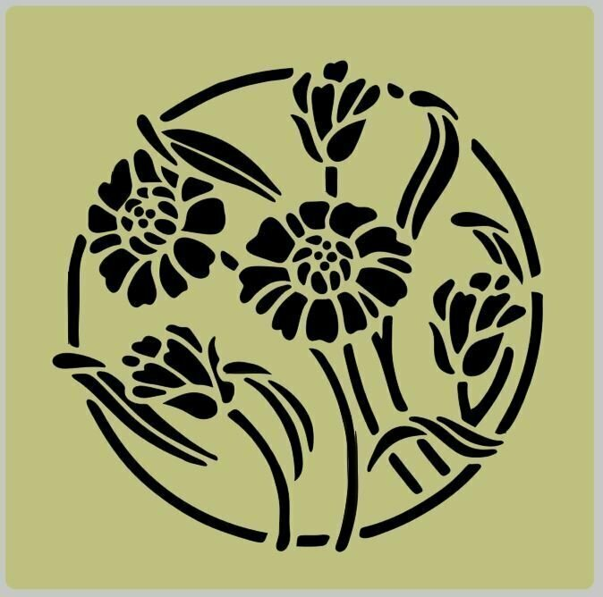 Floral (7) Shabby Chic furniture stencil