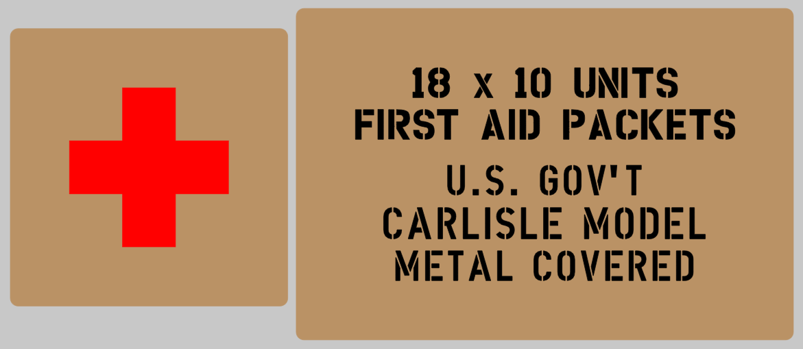 Medical bandages stencil set (med 6) stencil set for re-enactors ww2 army prop