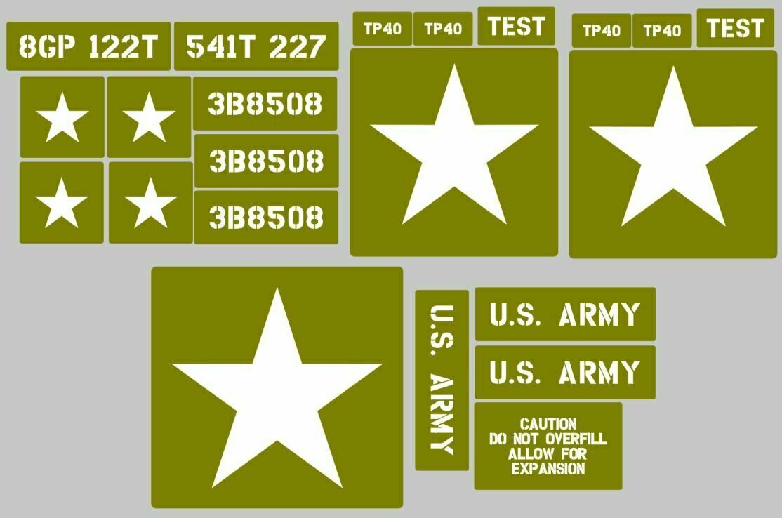 The Dodge M37 ​3⁄4-ton 4x4 truck Stencil set