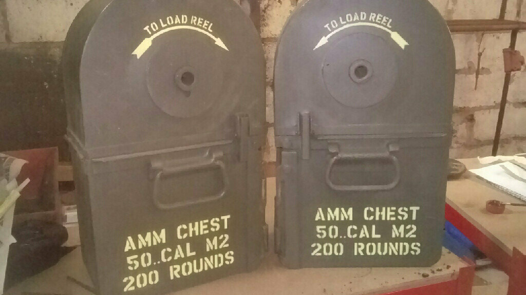 Tombstone ammo case stencil set for re-enactors ww2 army prop Bofors gun