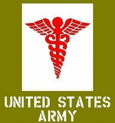 Dodge medical Caduceus Stencil ww2 army
