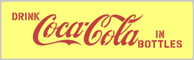Soda drinks tray stencil set C oke C ola stencil set for re-enactors ww2 army prop