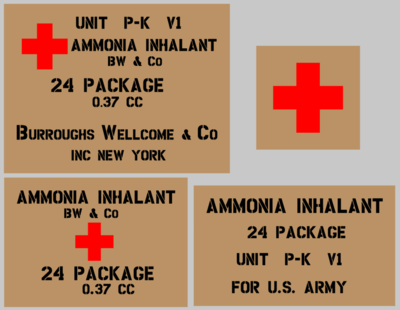 Medical Ammonia stencil set (med 4) stencil set for re-enactors ww2 army prop