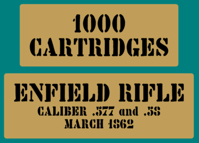 Enfield Rifle Cartridges stencil American Civil war stencil set for re-en-actors as a prop