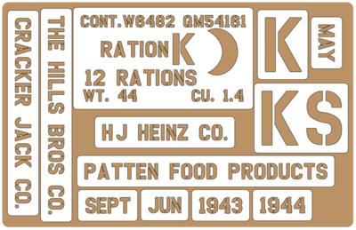 K Ration crate stencils inc plans to build stencil set for re-enactors ww2 army prop