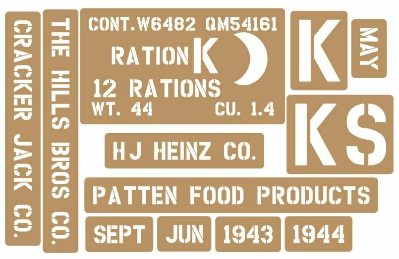 K Ration crate stencils inc plans to build stencil set
