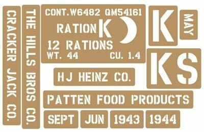 K Ration crate stencils inc plans to build stencil set