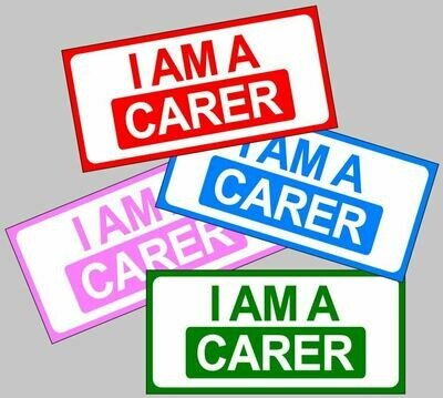 I am a Carer magnetic car sign for lockdown carers nurses etc