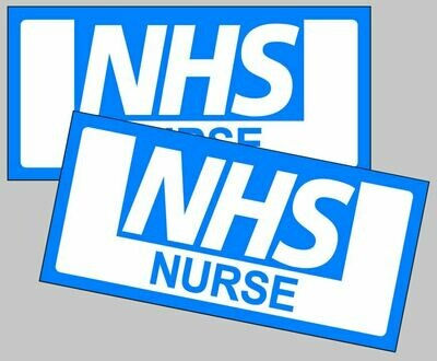 Magnetic car fridge sign NHS Nurse, Doctor, Midwife, District Nurse, Paramedic, Thankyou