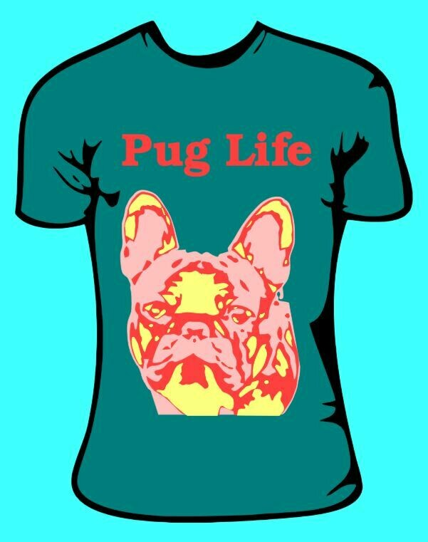 Pug Life Pop Art Stencils Pug Dog Pet