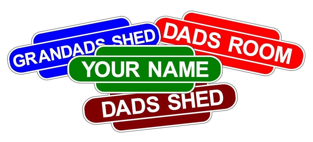 Train railway station style decal sticker, custom name