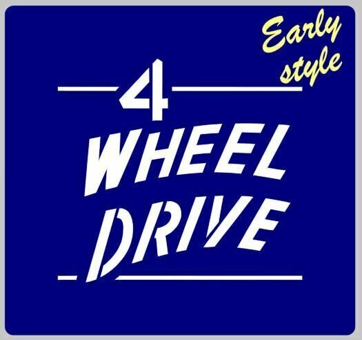4 Wheel Drive 4WD stencil for Jeep early and late versions