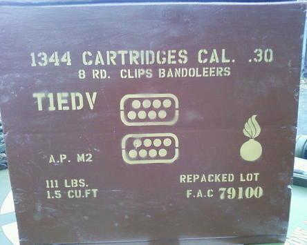 8 round Bandoleer box stencil set for re-enactors ww2 army Jeep prop