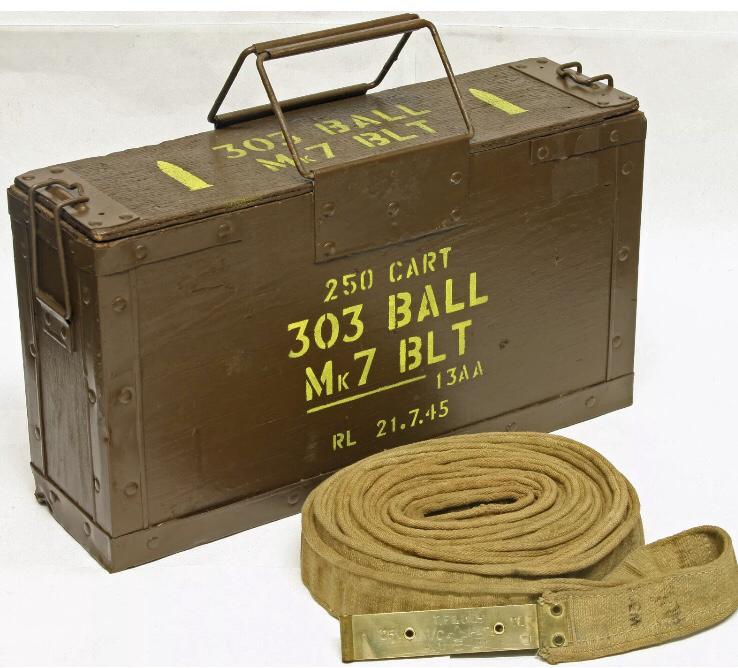 British 303 Ball box stencil set for re-enactors ww2 army Jeep prop