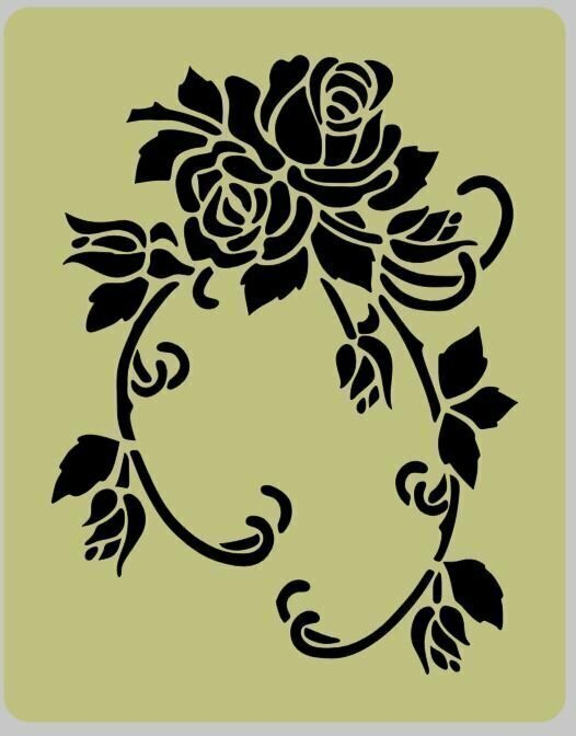 Floral (2) Shabby Chic furniture stencil