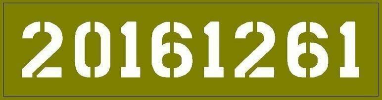 Jeep dodge GMC Bonnet / Hood number stencil wartime ww2 military vehicle