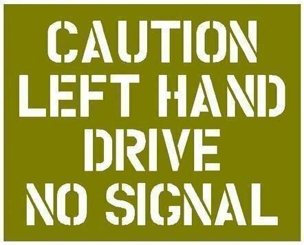 Left hand drive stencil ww2 wartime jeep dodge GMC