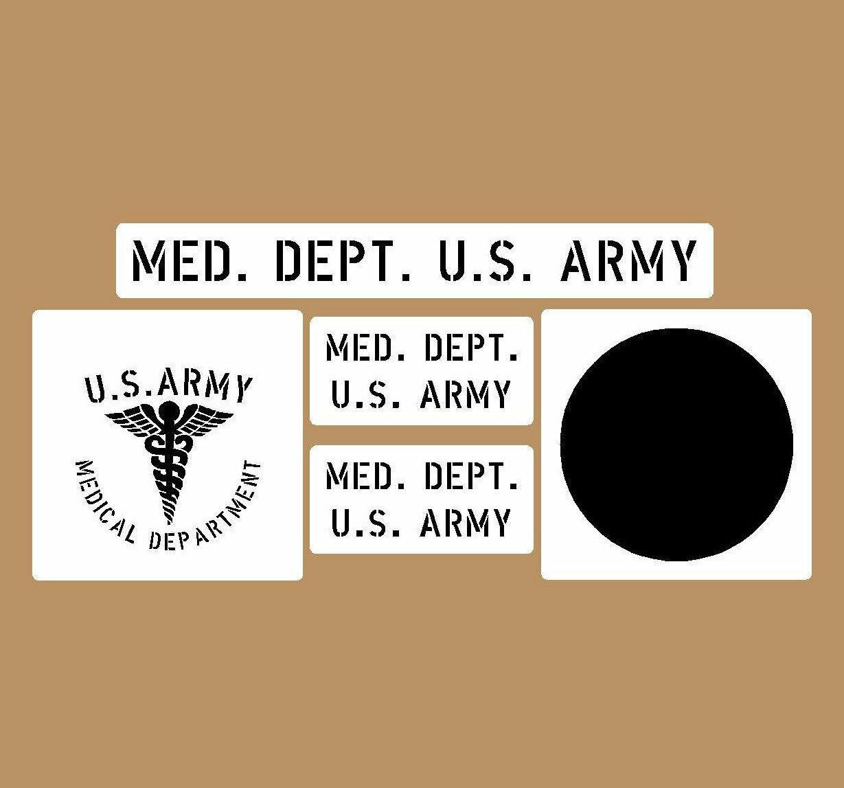Medical Dept stencil set (med 1) stencil set for re-enactors ww2 army prop