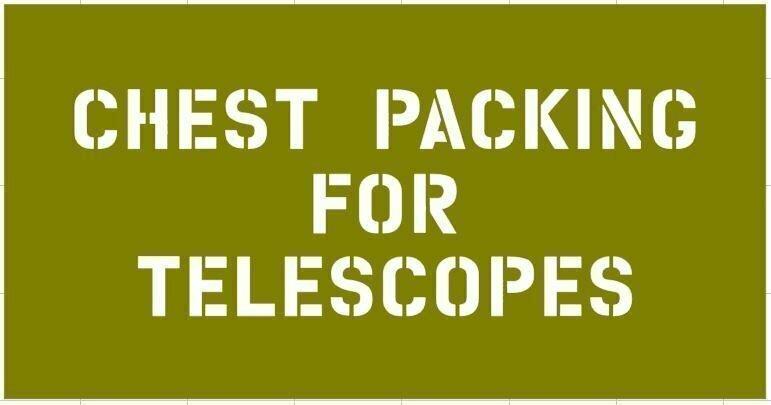 Telescope box stencil for re-enactors ww2 army prop