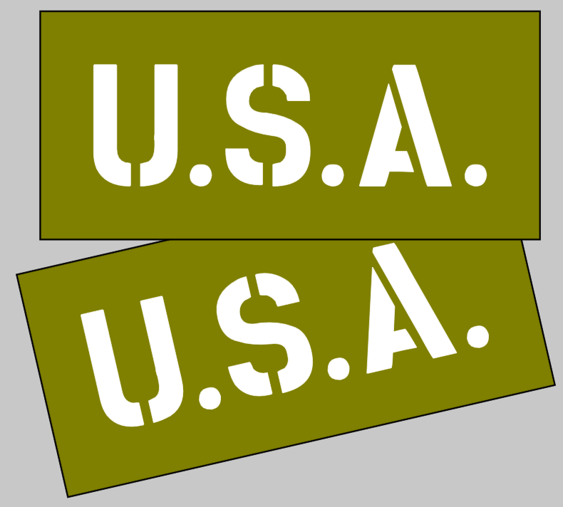 USA stencil for Jeep dodge GMC Bonnet / U.S.A. stencil wartime ww2 military Vehicle