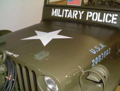 Military Police window stencil set for Jeeps, Willys Hotchkiss Ford